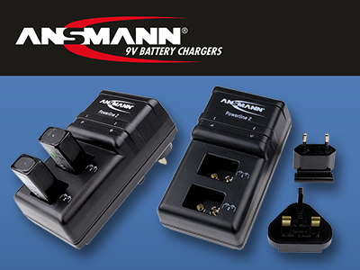 Ansmann 9V Battery Chargers