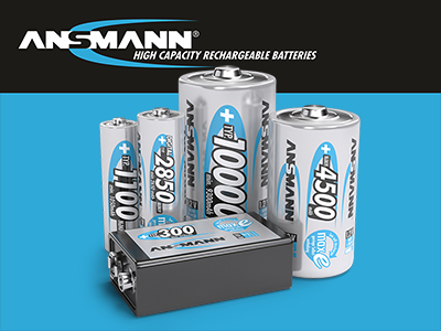 Ansmann High Capacity Rechargeable Batteries